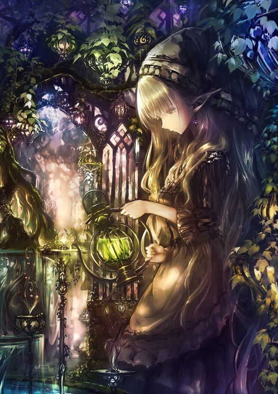 #anime This is so beautiful it looks like it should be in a story book about Elfin.