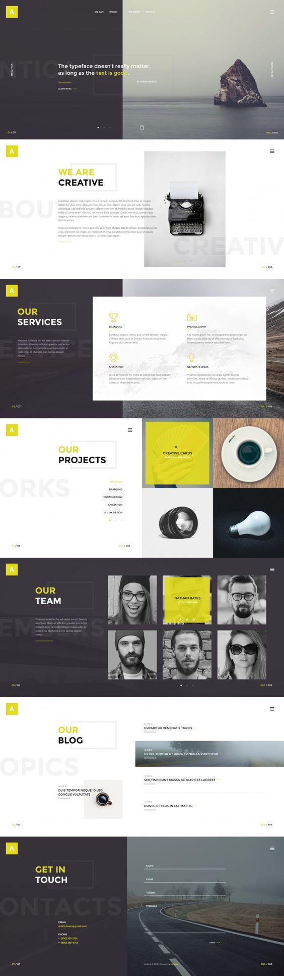 Antica — Multipurpose Business Agency/Personal Portfolio // #WebDesign #GraphicDesign #Inspiration