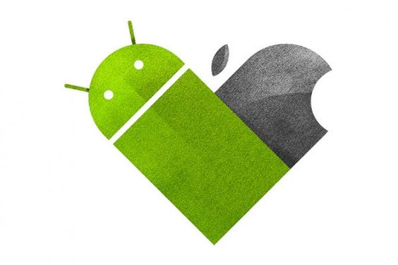 Apple Android heart