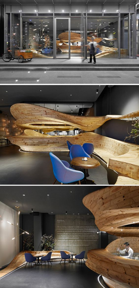 Architecture firm WEIJENBERG have worked together with Chef André Chiang to create RAW, a restaurant in Taipei, Taiwan.