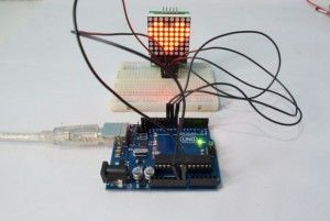 Arduino 88 LED Matrix using MAX7219