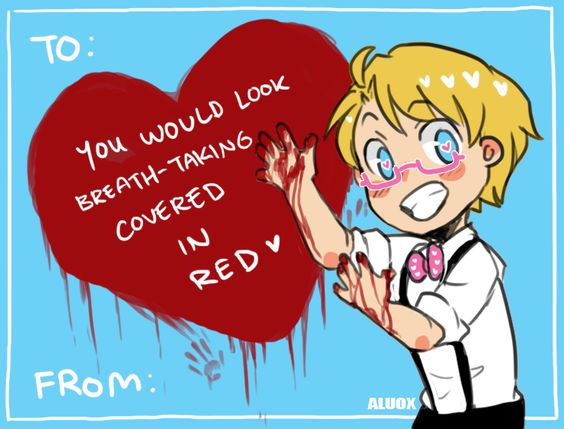 """ask-hitman-jones: """" Happy Valentine 2015!!! Thank you everyone for submitting pick up lines! :D They're wonderful! Also check out last year's Valentine cards if you want :) [x] [x] """" ((I didn't"""