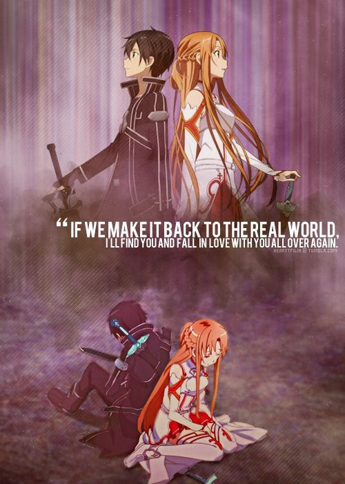 Asuna and Kirito Sword Art Online