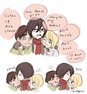 attack on titan armin cosplay | Shingeki no Kyojin (Attack on titan) Eren, Mikasa and Armin