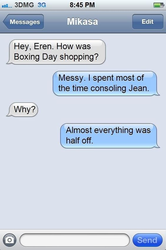 attack on titan funny text messages | attack on titan texts