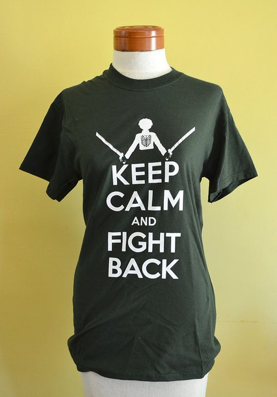 Attack on Titan  Keep Calm and Fight Back Tshirt by helloneko, $