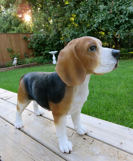 Beagle Dog Standing Figurine