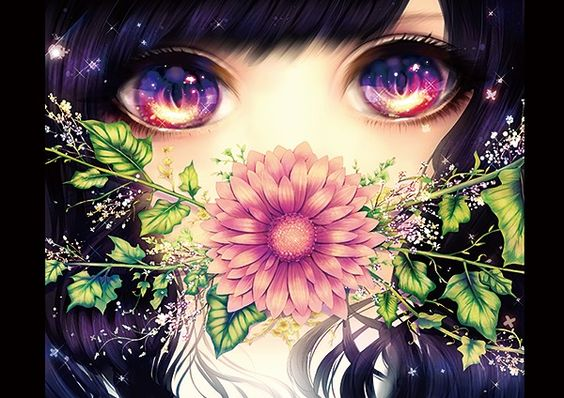 black hair purple eyes - Google Search