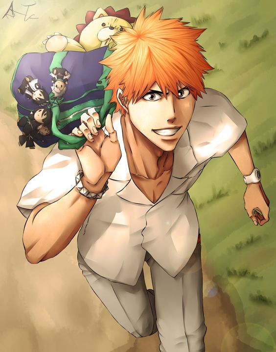 Bleach ~~~ Ichigo Kurosaki with his friends in handy portable forms. ^_^