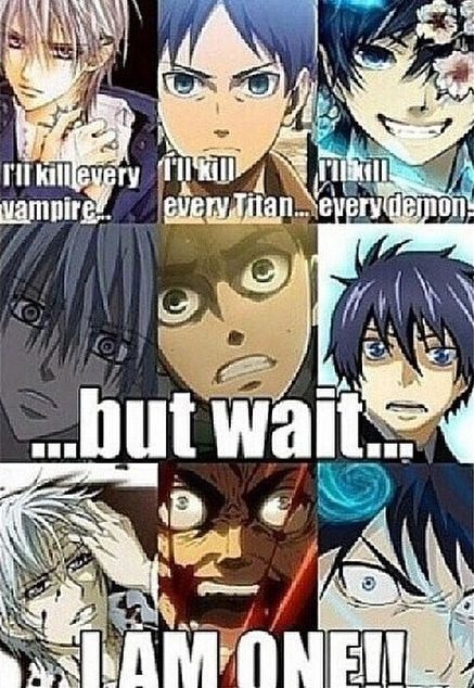 blue exorcist - vampire knight - Attack on titian ^0^