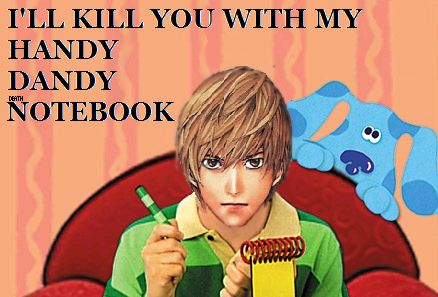 blue's clues #DeathNote, would be better if blue was Ryuk