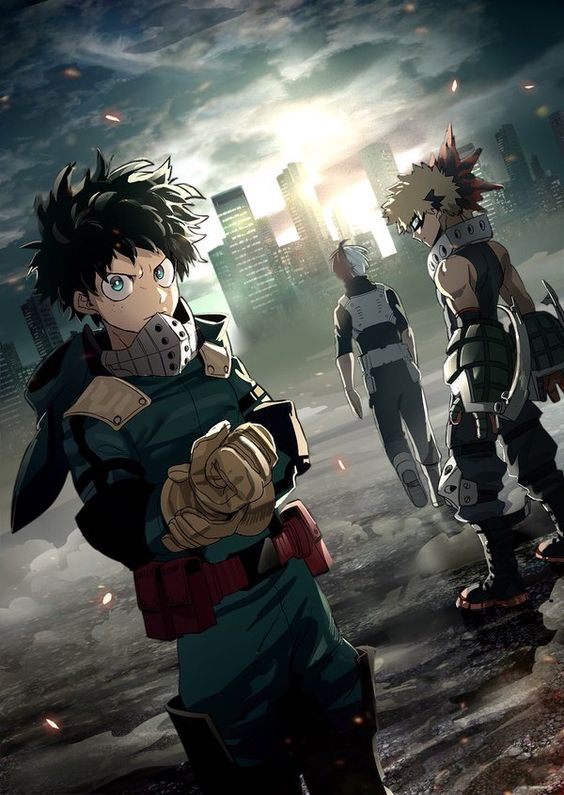 Boku no Hero Academia || Midoriya Izuku, Katsuki Bakugou, Todoroki Shouto.