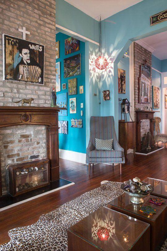 Brian y Emily de Art-Filled Nueva Orleans Inicio - Casa Información | Apartment Therapy