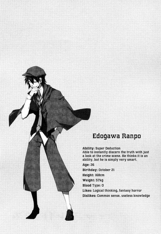 Bungou Stray Dogs 9 Edogawa Ranpo