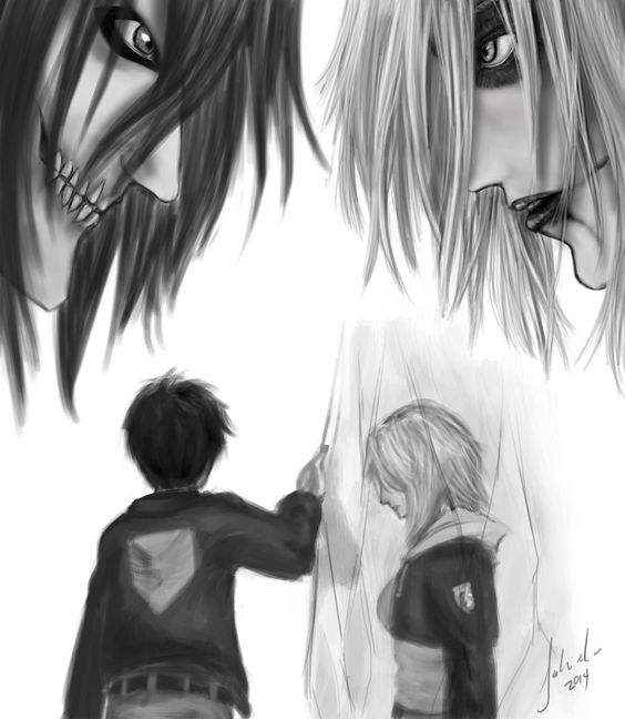 By Tsu-gambler | Eren Jaeger/Jäger/Yeager x Annie Leonhardt/Leonhart | EreAnnie / ErenAnnie / EreAnni / Erennie / Erenni | Titan Shifters | Attack on Titan/Shingeki no Kyojin AoT/SnK | Anime manga couple | OTP