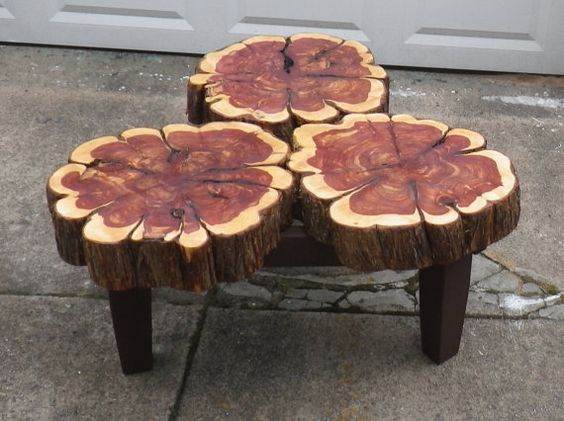 Cedar Slab Coffee Table. Simple DIY