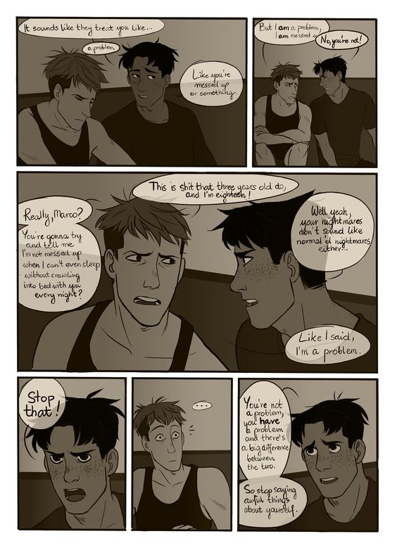 ((CLICK AND READ THE COMIC AND THE FIC OKAY JUST GO GET SOME JEANMARCO AND FEELS.))