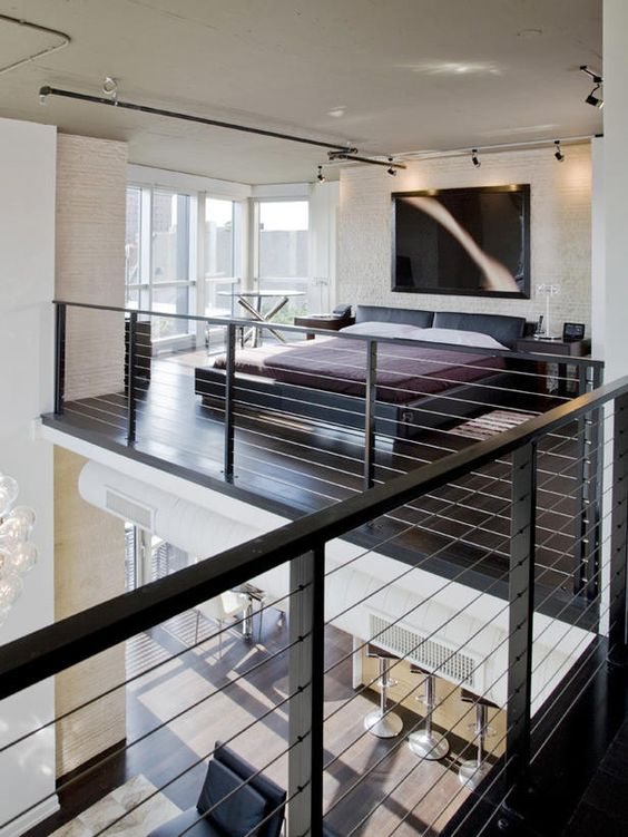 Contemporary Loft Bedroom