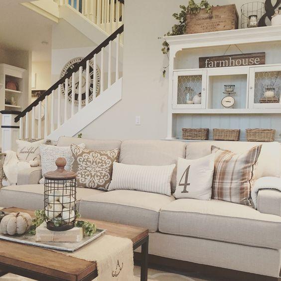 Cozy, modern farmhouse living room. Interior design by Janna Allbritton, Yellow Prairie Interior Design.