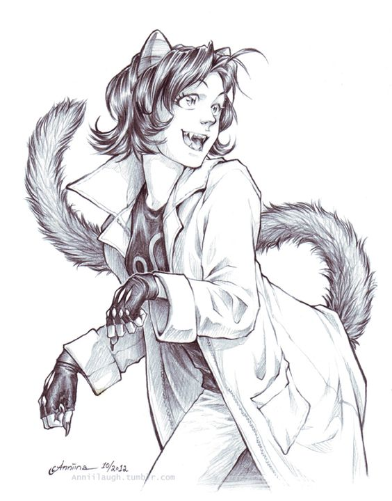 cryptictheorist413: anniilaugh: Pencil sketch commission of Nepeta for dcats. -commission info- this is really good.