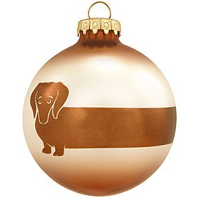 Dachshund Glass Ornament