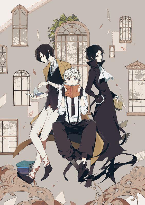Dazai Osamu, Nakajima Atsushi & Akutagawa Ryunosuke. Bungou Stray Dogs