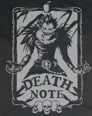 Death Note Yagami Light shinigami Ryuk Shirt T-shirt tee Tshirt