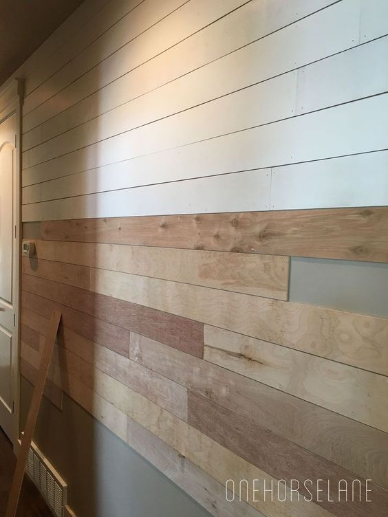 DIY Shiplap , Cheap, and Beautiful Part 1