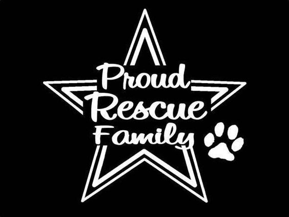 Dogs Rescue Family Decal