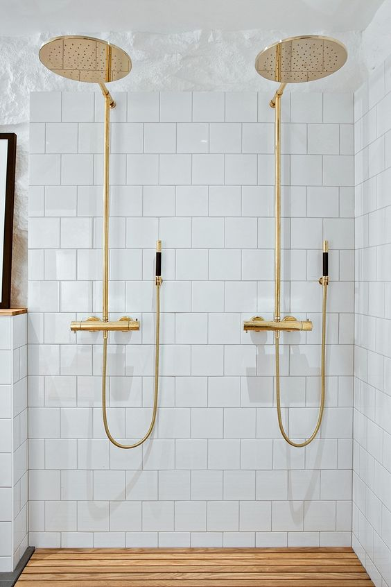 double brass shower