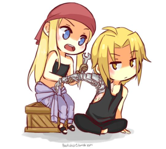 Ed and Winry.