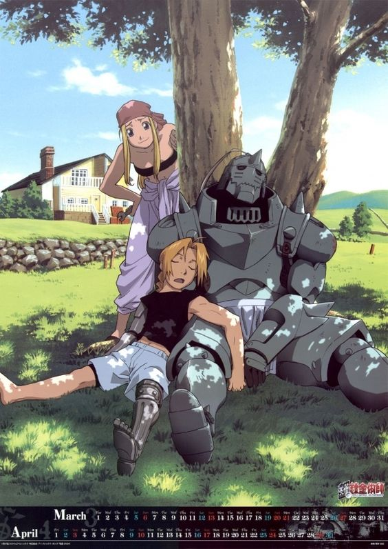 Edward & Alfonse Elric with Winry