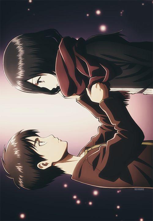 また今度な。 Eren Jager and Mikasa Ackerman ErenxMikasa Shingeki no Kyojin #eren#mikasa#fanart