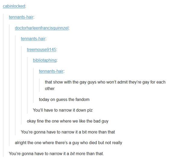 Every fandom has them LOL
