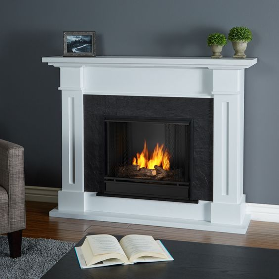 Exquisitely light and warm your home with this Real Flame fireplace. Uses 13-ounce Real Flame Gel Fuel only.
