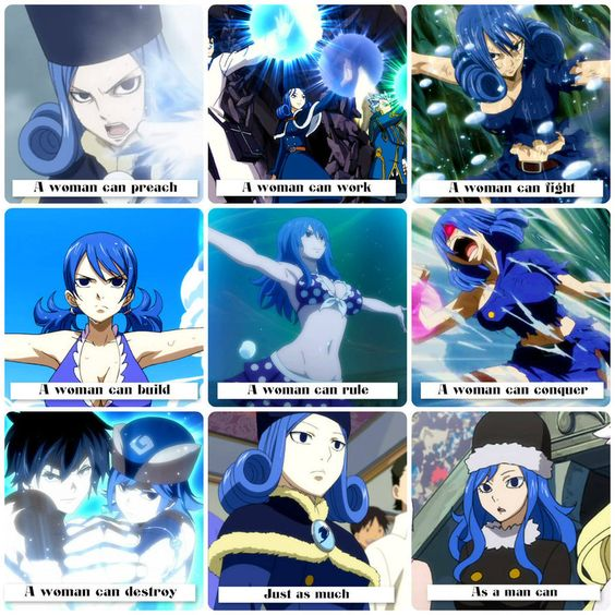 Fairy Tail .:A Woman Can:. Juvia Lockser by Flames-Keys on deviantART
