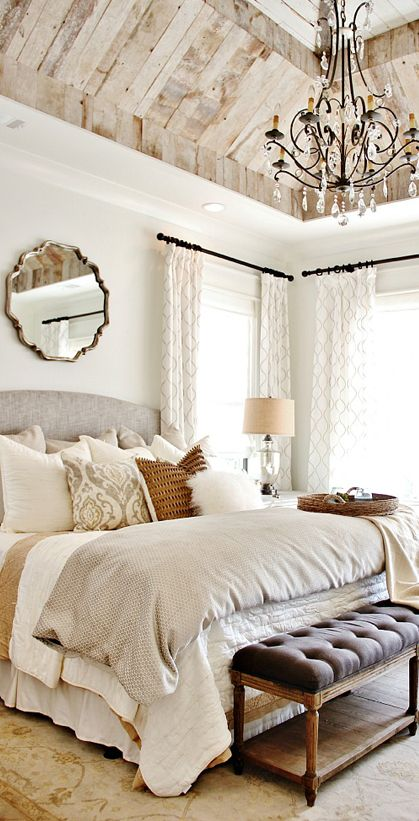Farmhouse Bedroom .  #InteriorDesign #EstateAgent
