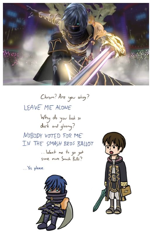 FE: A Chrom and Robin - Chrom's look in the upcoming Genei Ibun Roku #FE game. It's okay Chrom. You're still in  I can get that smash ball.