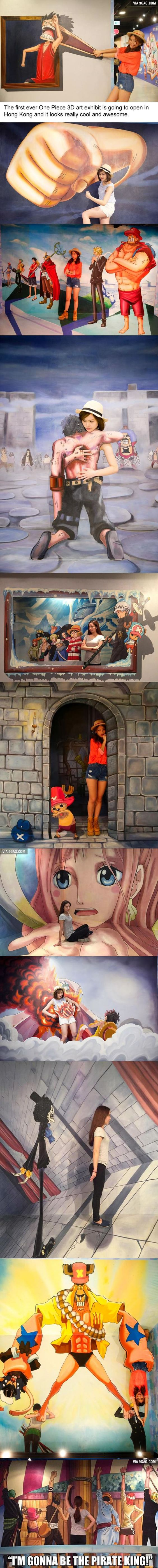 First One Piece 3D Art Exhibit Opens In Hong Kong!
