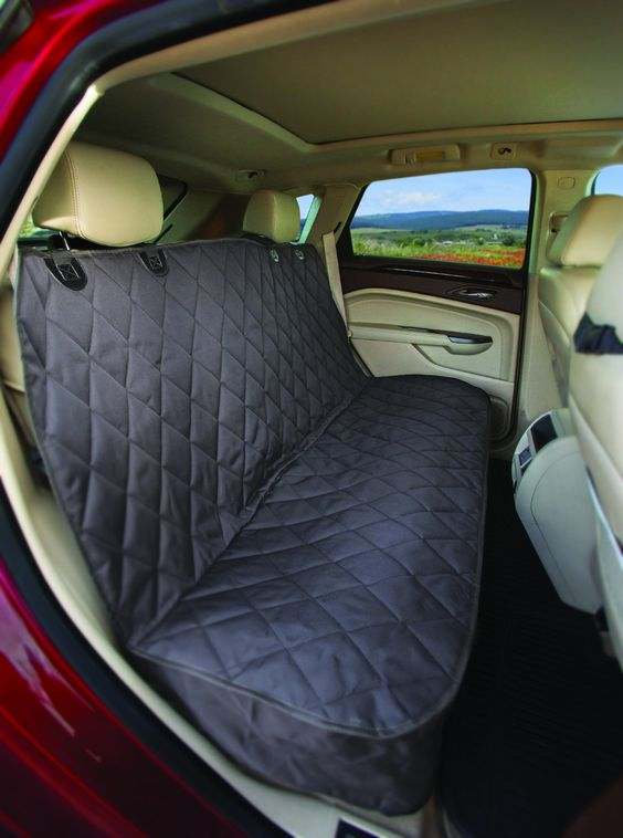 Fitted Dog Seat Cover Rear Bench Seat (Black Regular Non Hammock)