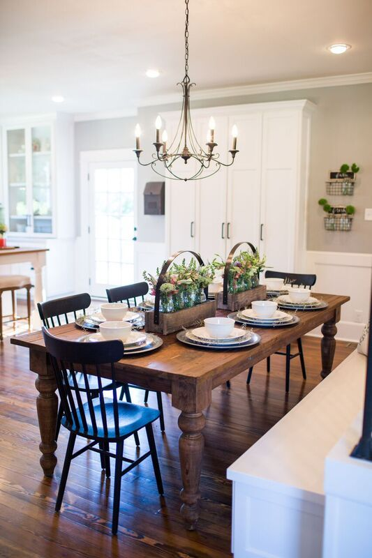 Fixer Upper Season 3 | Chip and Joanna Gaines Renovation | The Nut House | Kitchen Lighting | Dining Room Table Lighting
