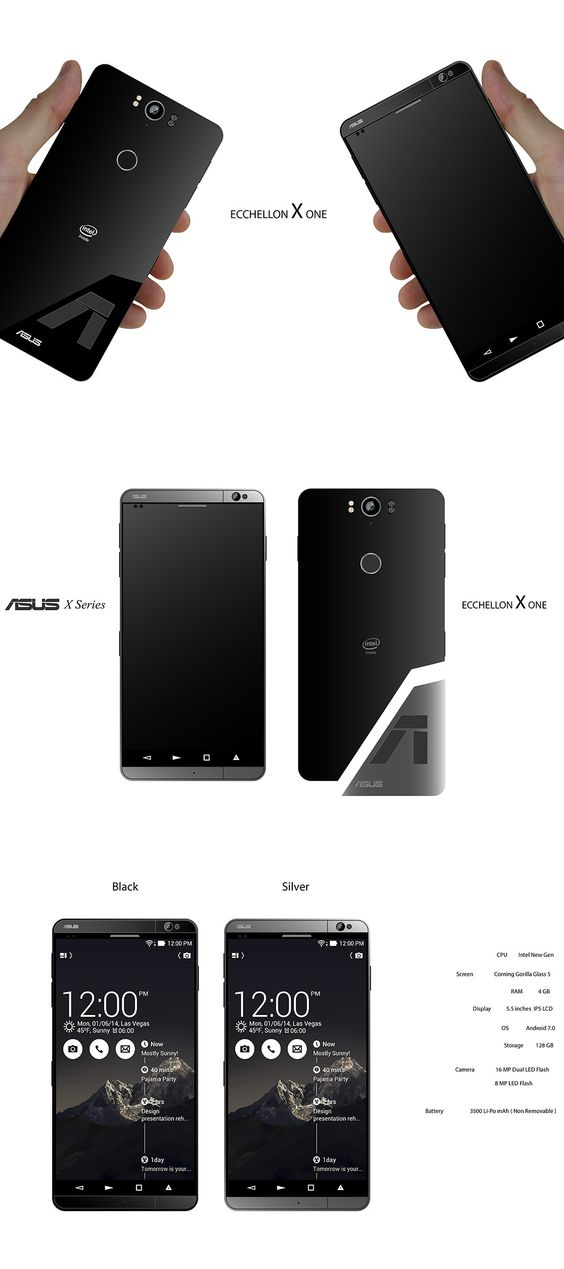 For everyone else there's the ASUS ECCHELLON X One. #ASUS #Phone #Mobile #Technology #YankoDesign
