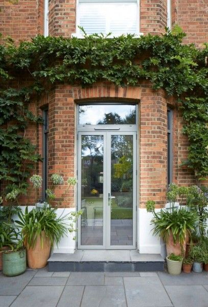 french doors with fanlight in aluminium