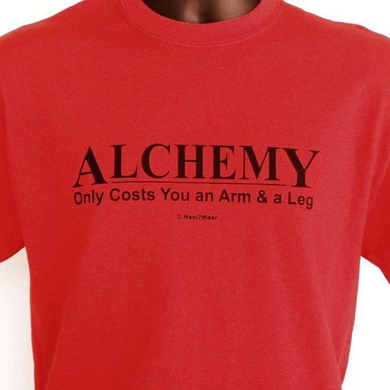 Fullmetal Alchemist Anime T-Shirt (Alchemy: Only Costs and Arm & a Leg Demotivator)