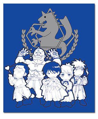 FULLMETAL ALCHEMIST SD Military Anime Throw Blanket GE NEW 57050 50