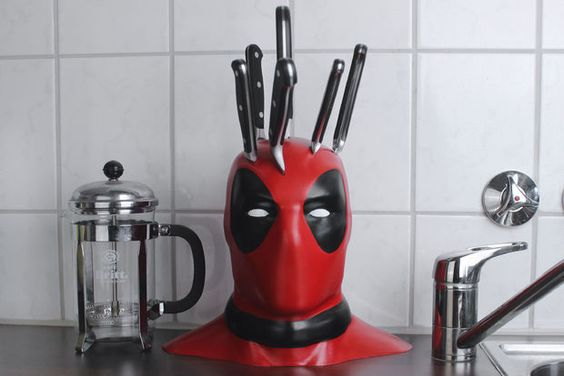 Fun DIY kitchen item for fans of Deadpool!