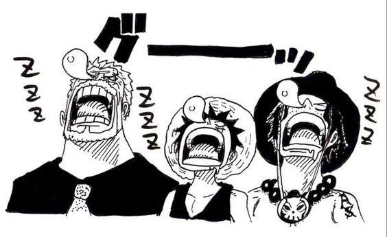 Garp, Luffy y Ace ~ One Piece