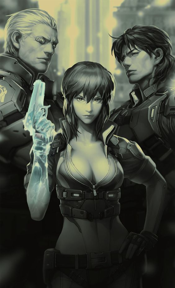 Ghost in a Shell - Motoko Kusanagi, Batou, Togusa by Lee Jisu *