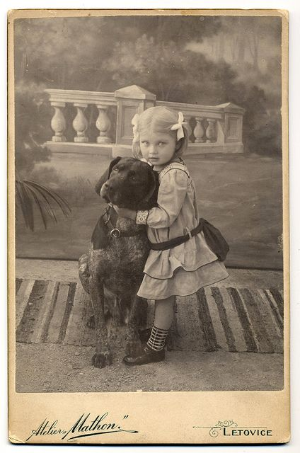 Girl With German Shorthaired Pointer