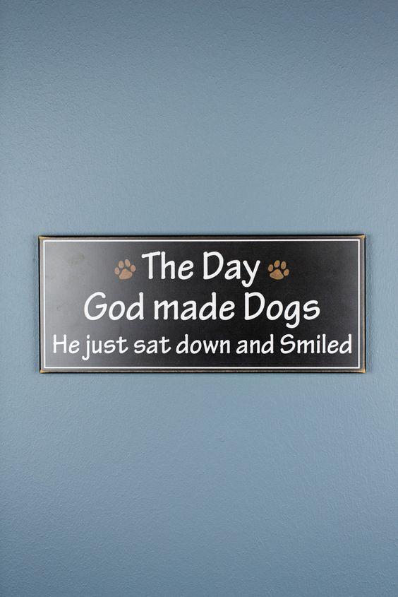 God Made Dogs Wood Decor $
